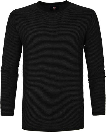 Suitable Leo Pullover Schwarz