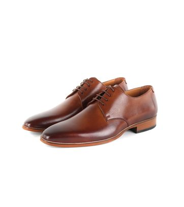 Suitable Leren Derby Herenschoen Cognac