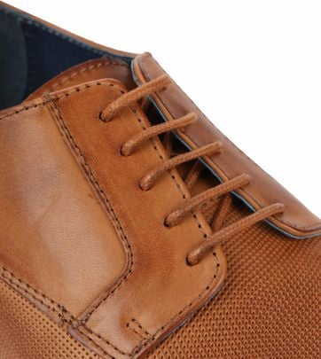 Suitable Leren Herenschoen Derby Cognac