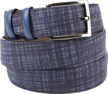 Suitable Leren Riem Navy