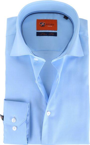 Suitable Light Blue Shirt Slim Fit DR-03