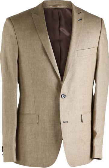 Suitable Linen Blazer Camel