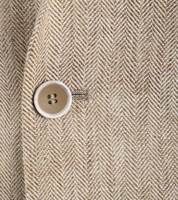 Detail Suitable Linnen Colbert Meda Beige