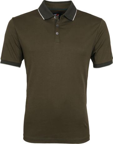 Suitable Liquid Poloshirt Olive Green