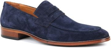 Suitable Loafer Suede Dunkelblau