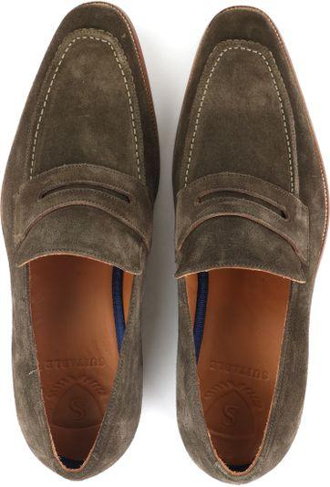 Suitable Loafer Suede Groen