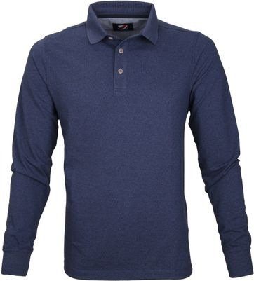 Suitable Longsleeve Polo Blauw