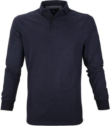 Suitable Longsleeve Polo Dennis Navy