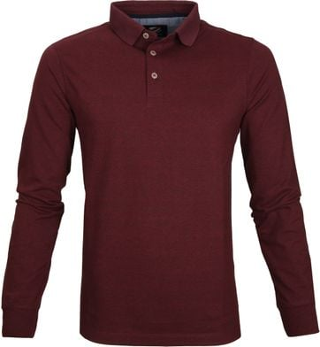 Suitable Longsleeve Poloshirt Bordeaux