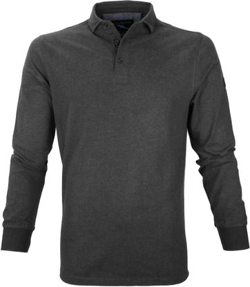 Suitable Longsleeve Poloshirt Dennis Dark Grey