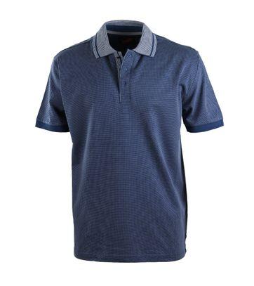 Suitable Luxe Poloshirt Blau