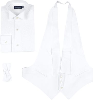 Suitable Luxury Tailcoat White Set