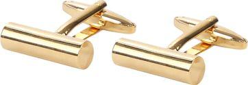 Suitable Manschettenknöpfe Schmales Rohr Gold