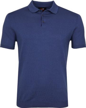 Suitable Mars Poloshirt Stretch Blue