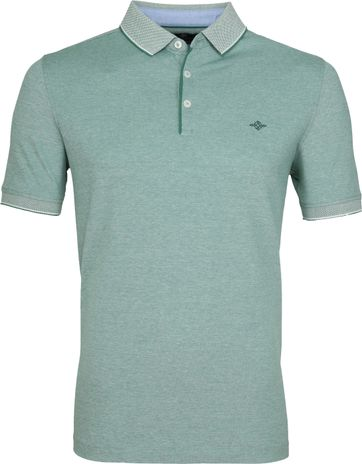Suitable Melange Poloshirt Groen