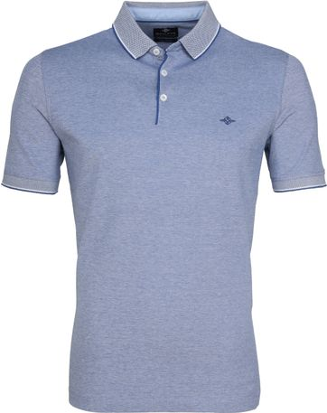 Suitable Melange Poloshirt Indigo