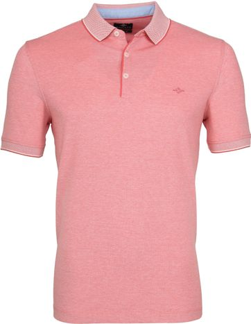 Suitable Melange Poloshirt Koraal