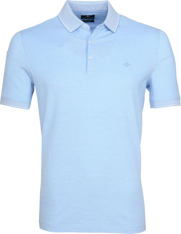 Suitable Melange Poloshirt Light Blue