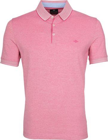 Suitable Melange Poloshirt Pink
