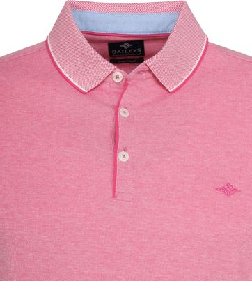 Suitable Melange Poloshirt Roze