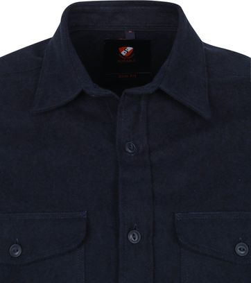 Suitable Melton Overshirt Donkerblauw
