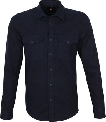 Suitable Melton Overshirt Navy