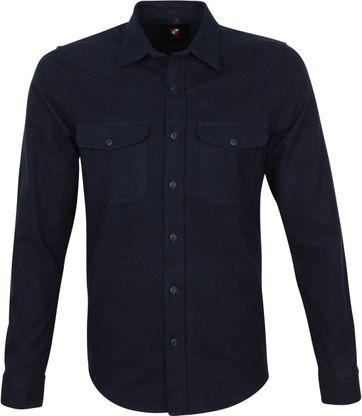 Suitable Melton Overshirt Navy