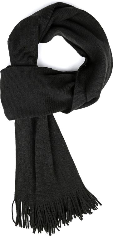 Suitable Men's Scarf Acrylic Black 20-10