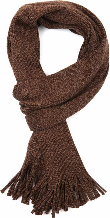 Suitable Men\'s Scarf Dark Brown 18-08