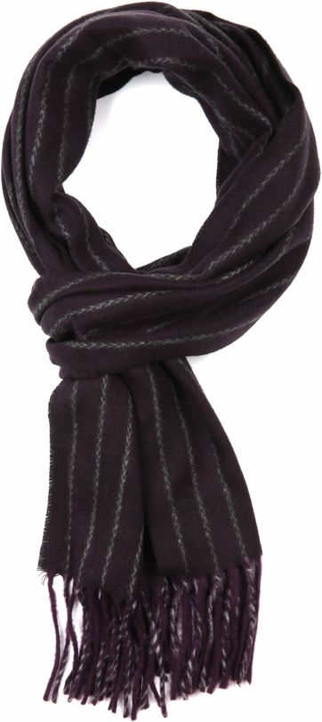 Suitable Men's Scarf Purple Stripes 18-19