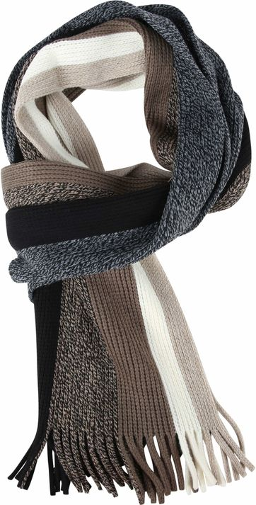 Suitable Men's Scarf Stripes 19-09