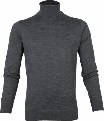 Suitable Merino 12 gauge Rollkragenpullover Dunkelgrau