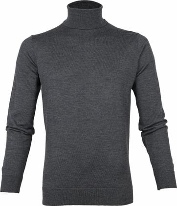 Suitable Merino 12 gauge Turtleneck Dark Grey