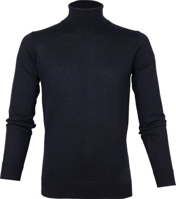 Suitable Merino 12 gauge Turtleneck Navy