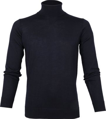 Suitable Merino 12g Turtleneck Navy