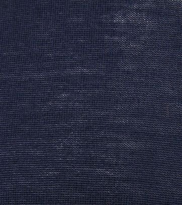 Suitable Merino Coltrui Pull Donkerblauw