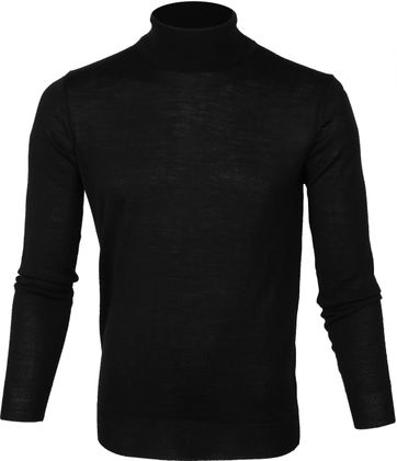 Suitable Merino Coltrui Pull Zwart