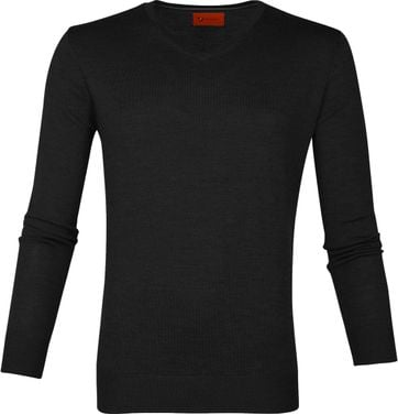 Suitable Merino Pullover Aron Antraciet