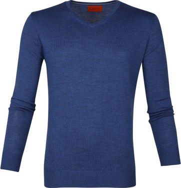 Suitable Merino Pullover Aron Blau