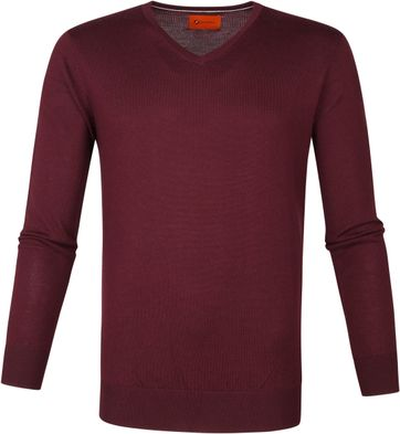 Suitable Merino Pullover Aron Burgundy Red