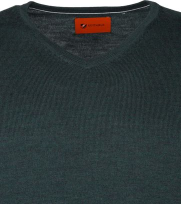Suitable Merino Pullover Aron Dark Green