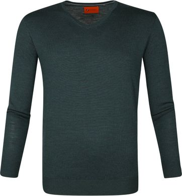 Suitable Merino Pullover Aron Dunkelgrün