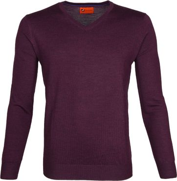 Suitable Merino Pullover Aron Lila