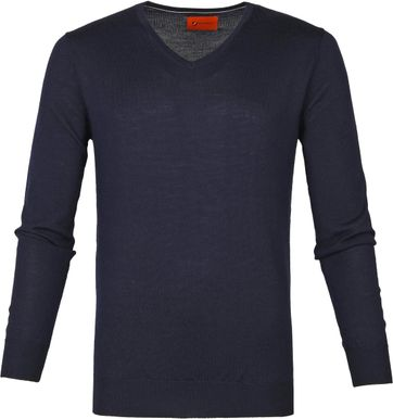 Suitable Merino Pullover Aron Navy