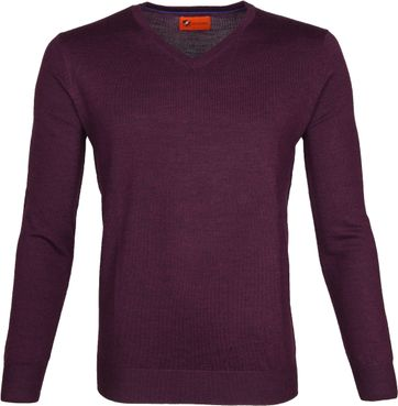 Suitable Merino Pullover Aron Paars