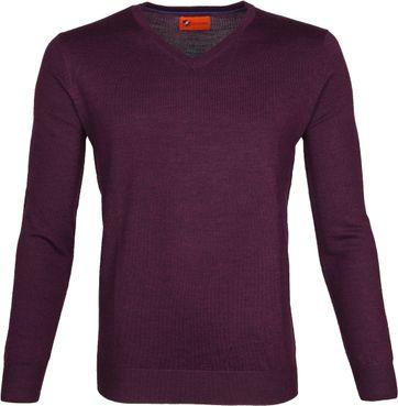 Suitable Merino Pullover Aron Purple