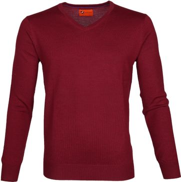 Suitable Merino Pullover Aron Rood