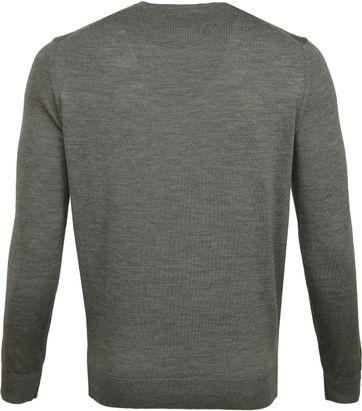 Suitable Merino Pullover O-Hals Groen
