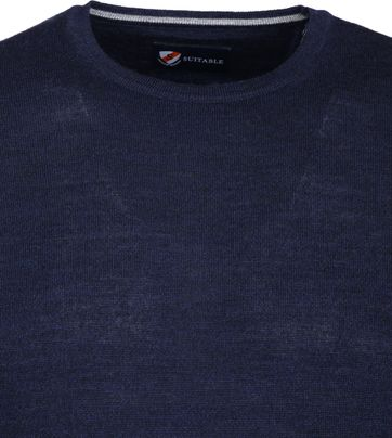 Suitable Merino Pullover O-Hals Navy