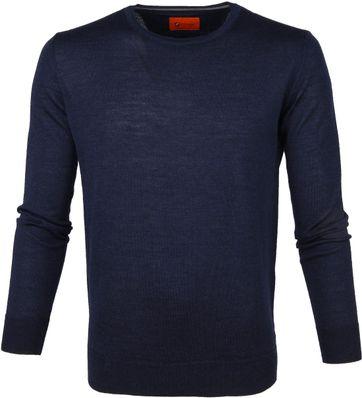 Suitable Merino Pullover O-neck Navy